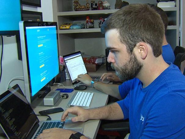 Jovens empresários de tecnologia criaram uma rede de colaboração no centro de Belo Horizonte (Foto: Reprodução de TV)