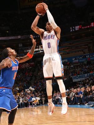 Russell Westbrook Thunder x Knicks NBA (Foto: Getty)