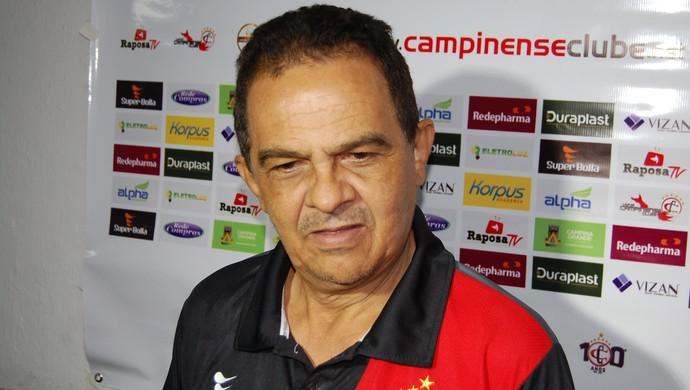 Francisco Diá, treinador do Campinense (Foto: Silas Batista / GloboEsporte.com)