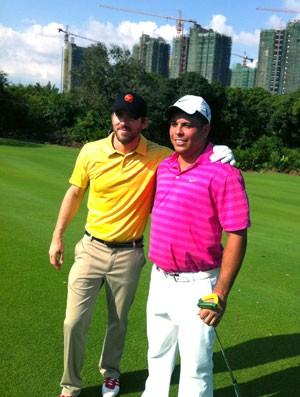 Ronaldo e Ryan Renolds, Golfe (Foto: José Gonzalez / Globoesporte.com)