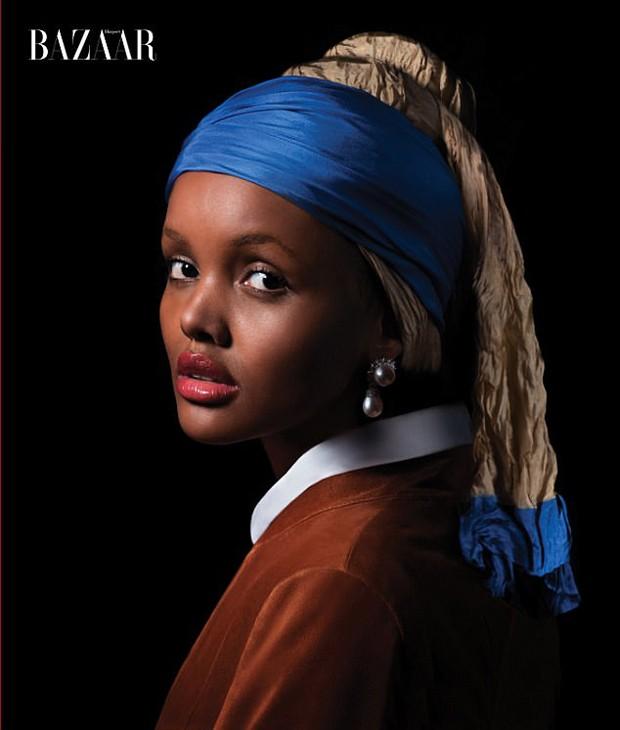 Halima Ade como A Moça com Brinco de Pérola (Foto: Reprodução)