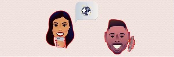 A dupla de amigos transformada em emojis (Foto: Divulgação)