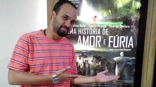 Rogers Lima Saccani - Ilustrador da TV Tribuna em seu 1º longa metragem de animação (Foto: Luiz Gustavo Januário)