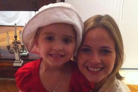Luiza Valdetaro e a filha, Malu (Foto: Reprodução)