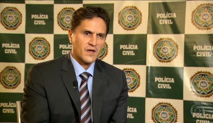 Delegado Fabio Cardoso, da Delegacia de Homicídios (Foto: Reprodução TV Globo)