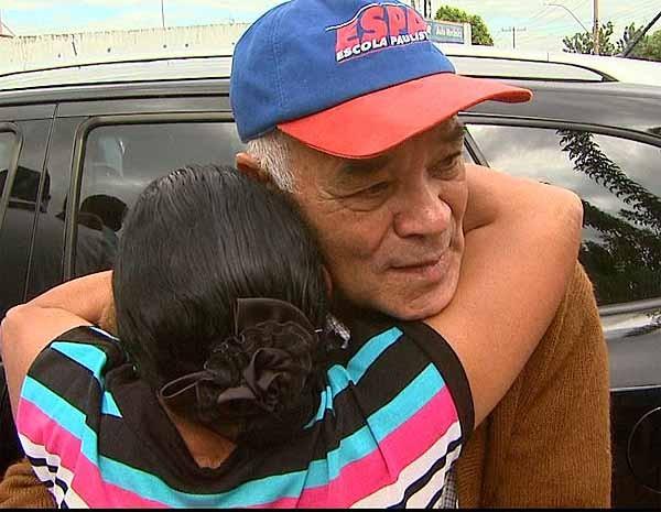 João Ferreira Leite reencontra irmã após 61 anos em Sertãozinho, SP (Foto: Reprodução EPTV)