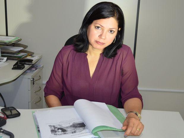 Delegada Tereza Simony, diretora do DHPP de Sergipe (Foto: Marina Fontenele/G1)