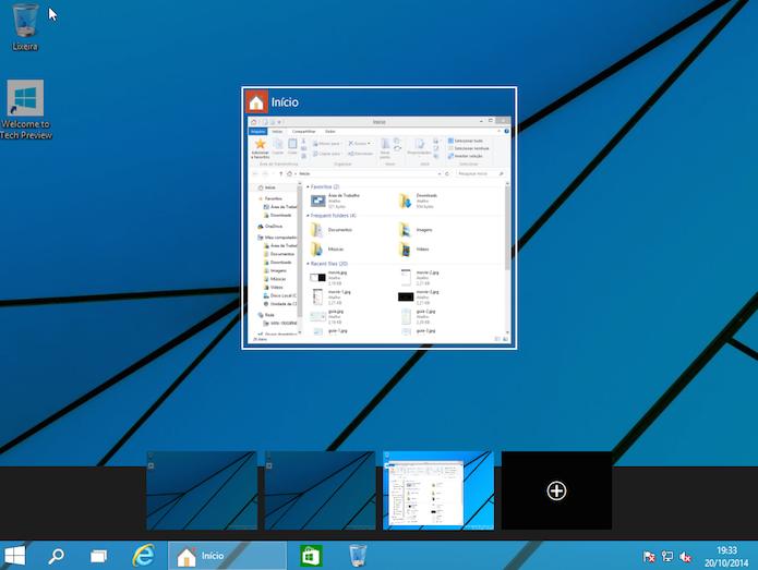 Use os atalhos de teclado para manipular os desktops virtuais (Foto: Reprodução/Edivaldo Brito)