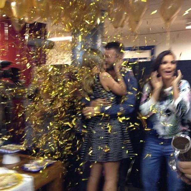 Fernanda Lima, Rodrigo Hilbert e Ivete Sangalo nos bastidores do Superstar (Foto: Instagram/ Reprodução)