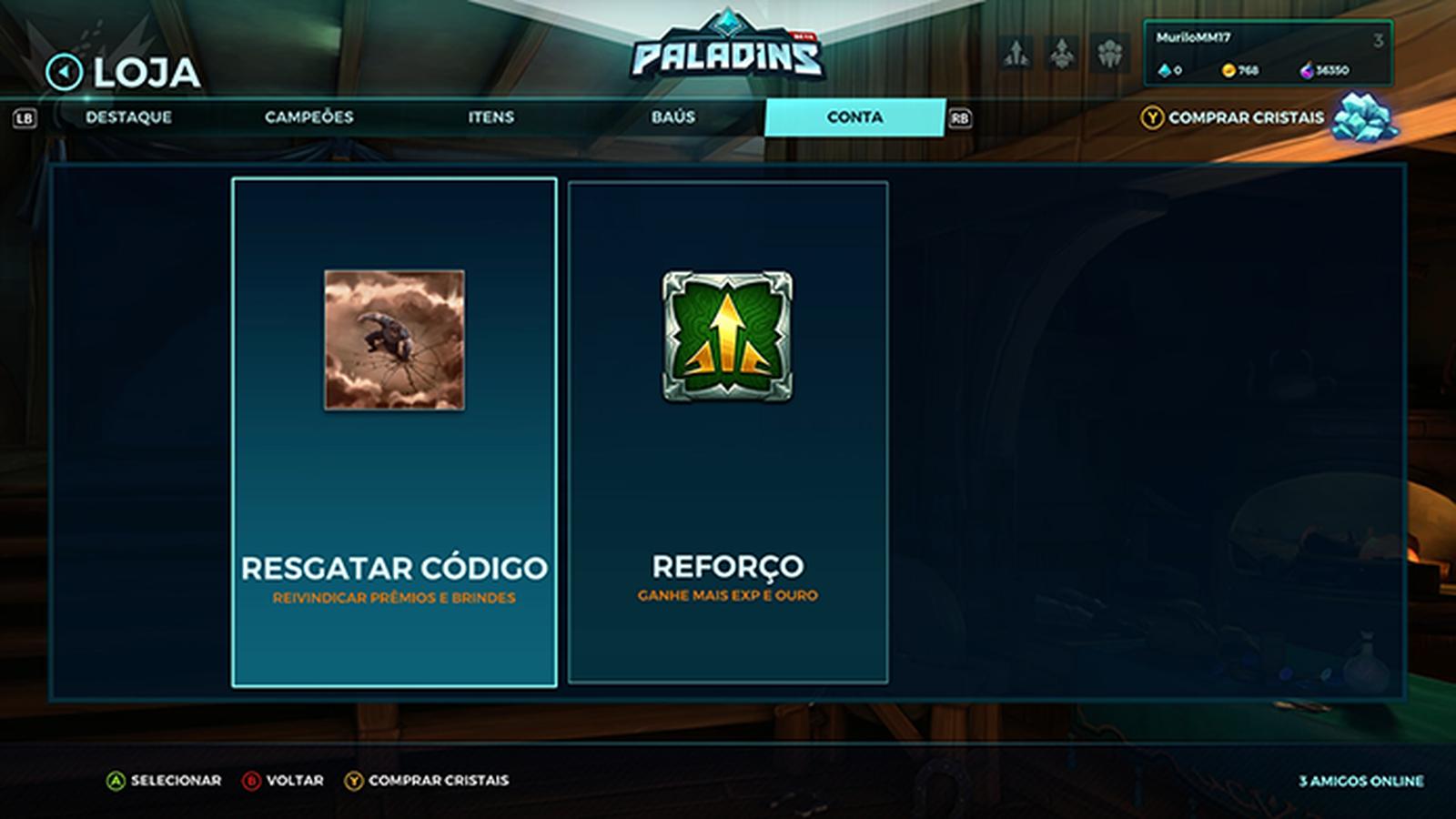 Como conseguir campeões e skins grátis no game Paladins 6