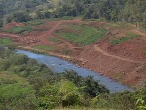 ONG diz que construção desmatou 15 hectares de mata nativa (Foto: Reprodução/ TV TEM)