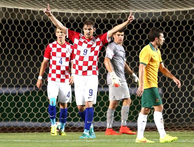 Nikica Jelavic Comemora gol da Croácia contra a Australia (Foto: Getty Images)