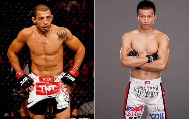 montagem UFC José Aldo x Chan Sung Jung (Foto: Editoria de Arte)