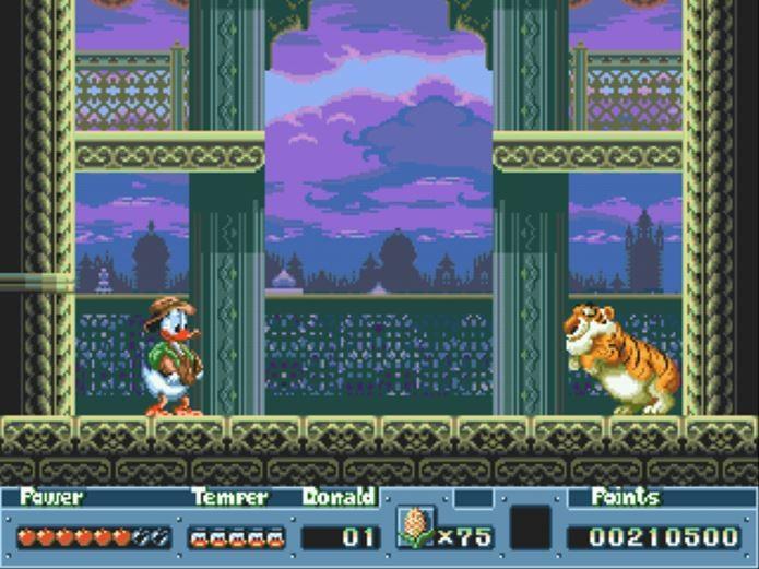 Quackshot tinha como protagonista o Pato Donald (Foto: Reprodução  / Retro Spirit Games)