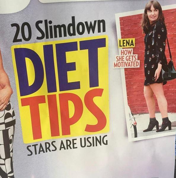 Lena Dunham aparece em capa de revista de fofoca norte-americana (Foto: Reprodução)