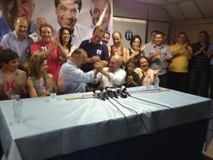 Eleitos em Criciúma comentam vitória  (Foto: Fabio Cadorin/RBS TV)