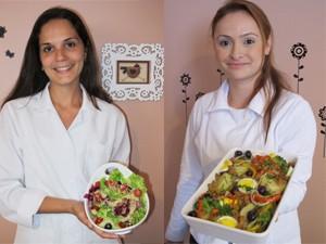 Nutricionista e chefe de cozinha falam sobre a ceia vegetariana (Foto: Mariane Rossi/G1)