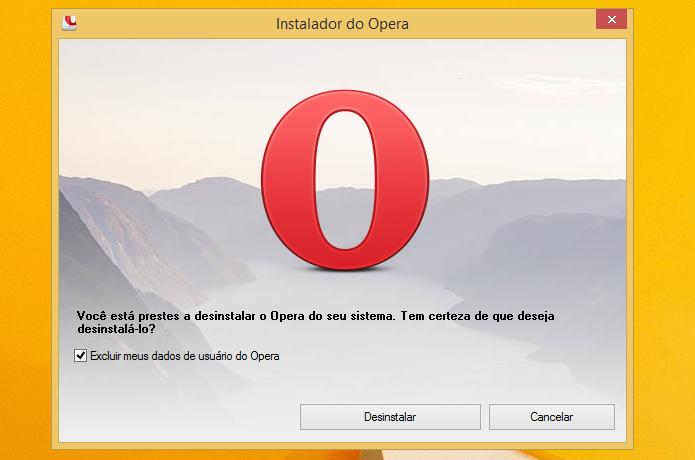 Desinstalando o Opera do computador (Foto: Reprodução/Helito Bijora)