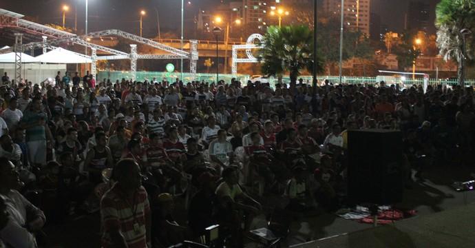 Torcida River-PI (Foto: André Leal / GloboEsporte.com)