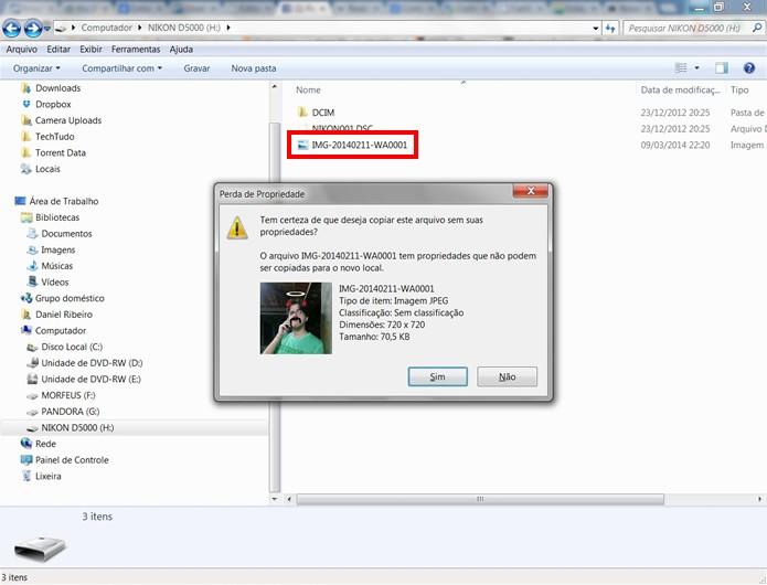 Com o debloqueio desativado, o usuário estará livre para alterar o conteúdo do cartão SD (Foto: Reprodução/Daniel Ribeiro)