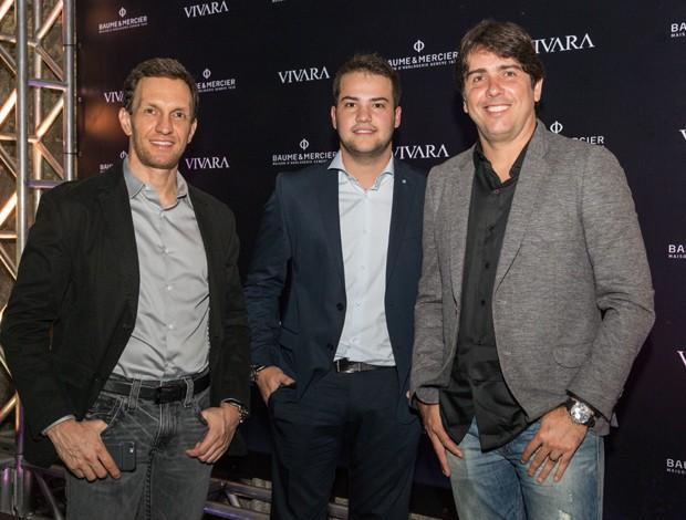 Os pilotos Luciano Burti, Felipe Fraga e Cacá Bueno (Foto: Divulgação)