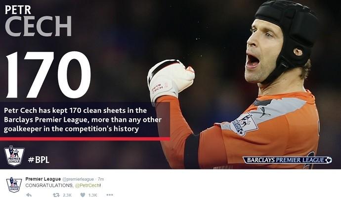 BLOG: Líder e recordista: Petr Cech alcança marca histórica em vitória do Arsenal