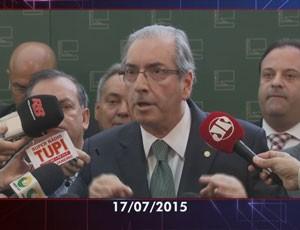 cunha rompe governo (Foto: Reprodução/TV Globo)