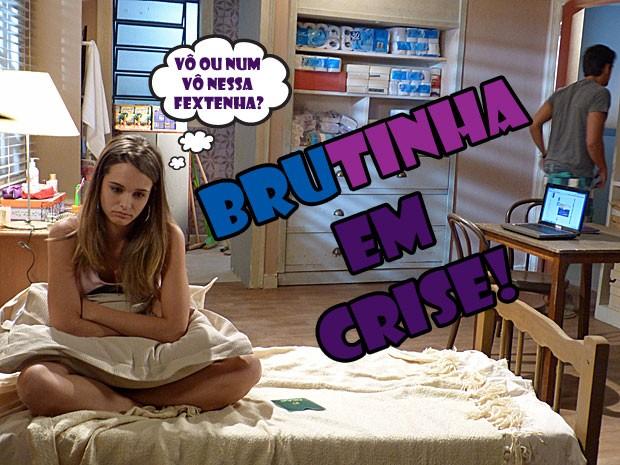 VISH! Crise com BruTinha! Será que esse casal mara vai se entender? (Foto: Malhação / Tv Globo)