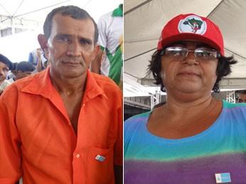 Pedro Santana e Maria Helena, na inauguração da adutora do Pajeú (Foto: Renan Holanda/G1)