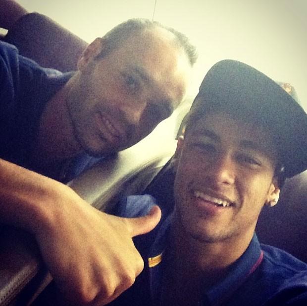 Iniesta e neymar (Foto: Reprodução / Instagram)