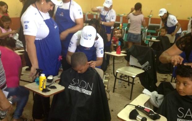 Ação Global no Amapá (Foto: Cassi Albuquerque)