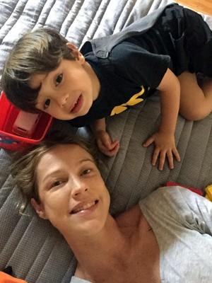 Luana Piovani e filho Dom (Foto: Arquivo Pessoal)