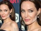 Além de Angelina Jolie, veja outras famosas que já erraram feio na maquiagem