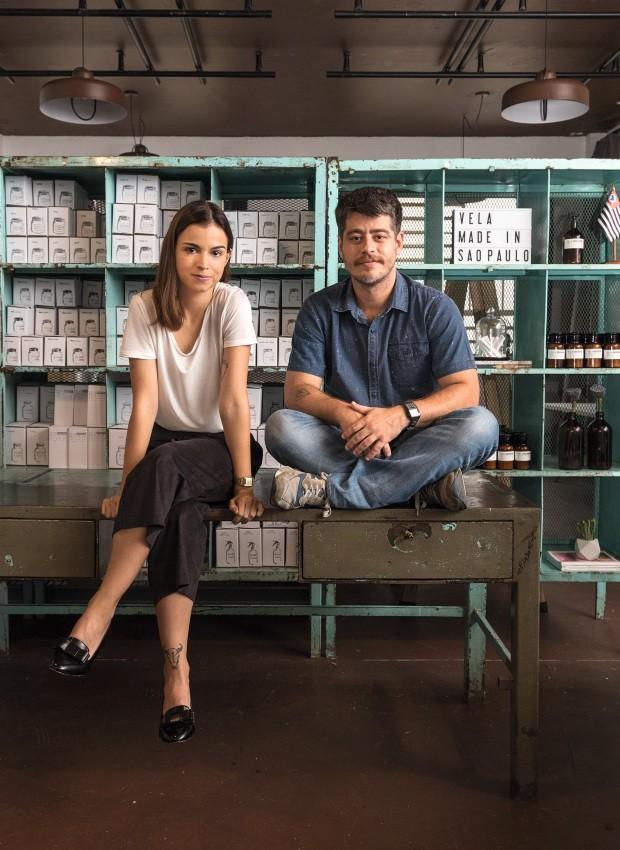 Fernanda Torres e Paolo Fagá, do Vela Made in São Paulo (Foto: Alexandre Disaro /  Editora Globo)