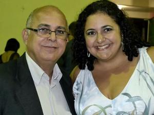 Simone Pena e seu pai (Foto: VC no G1)