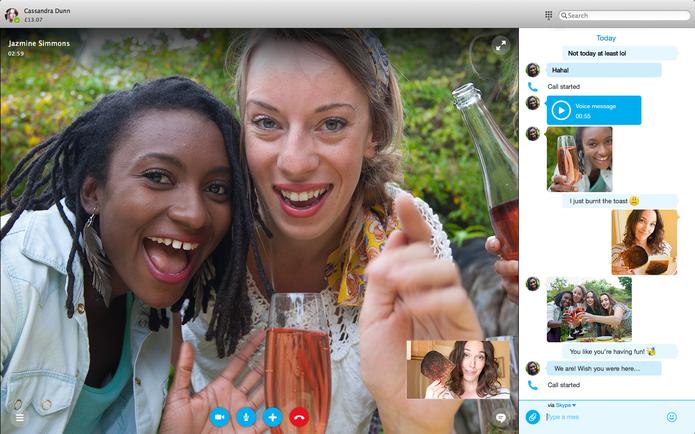 Visual do chat no Skype 7.0 para Mac (Foto: Divulgação/Skype)