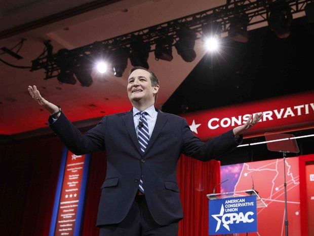 O senador do Texas, Ted Cruz,  fala durante conferência nos EUA (Foto: REUTERS/Kevin Lamarque)