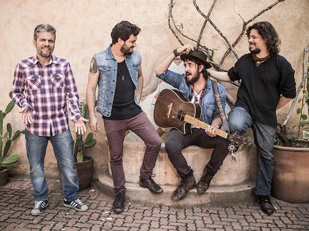 A banda Suricato mudou seu processo de composição: 'somos um núcleo criativo' (Foto: Raphael Dias/Gshow)