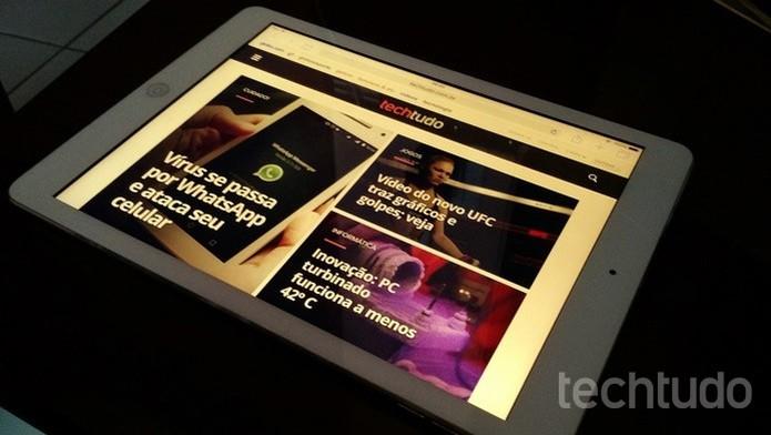 Recurso Modo Noturno do iOS 9.3 deixa tela amarelada (Foto: Felipe Alencar/TechTudo)