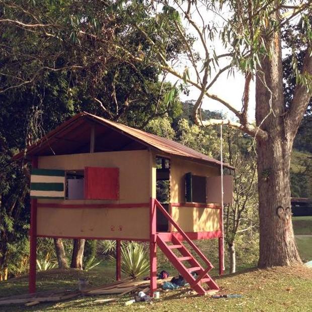 Casa de brincadeiras de João e Francisco, filhos de Rodrigo Hilbert e Fernanda Lima (Foto: Reprodução/Instagram)