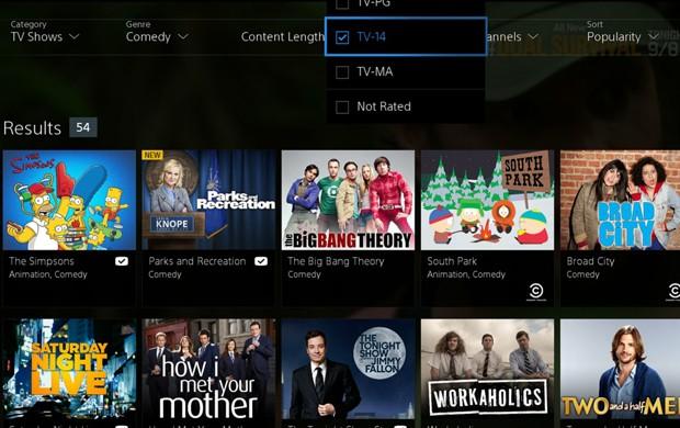 Vue une canais de TV e vídeos sob demanda no PS4 e PS3 (Foto: Divulgação/Sony)