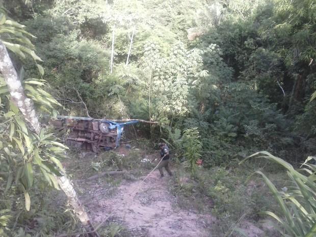 Acidente com caminhão deixa dois mortos em Santarém (Foto: Débora Rodrigues/TV Tapajós)