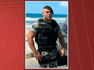 Soldado Márcio Pereira dos Santos foi morto ao tentar evitar assalto em Salvador (Foto: Reprodução/TV Bahia)
