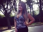 Geisy Arruda, grávida de dois meses, participa de gravação