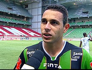 Junior Timbó, atacante do América-MG (Foto: Reprodução Sportv)