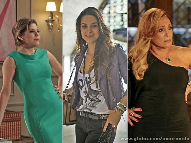 Pilar, Leila e Edith (Foto: Amor à Vida / TV Globo)