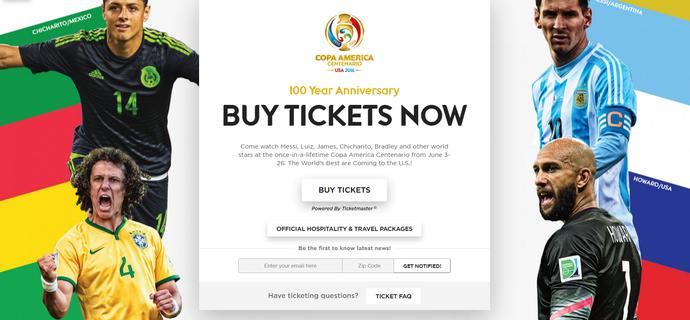 David Luiz no site oficial da Copa América (Foto: Divulgação / Copa América)
