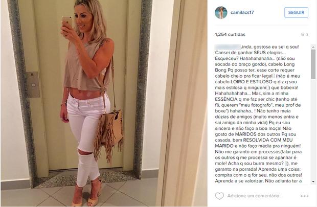 Camila Silva (Foto: Reprodução / Instagram)