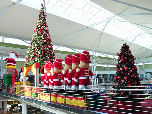 Decoração de natal do Parque Dom Pedro Shopping, em Campinas (SP) (Foto: Safra Digital/Divulgação)