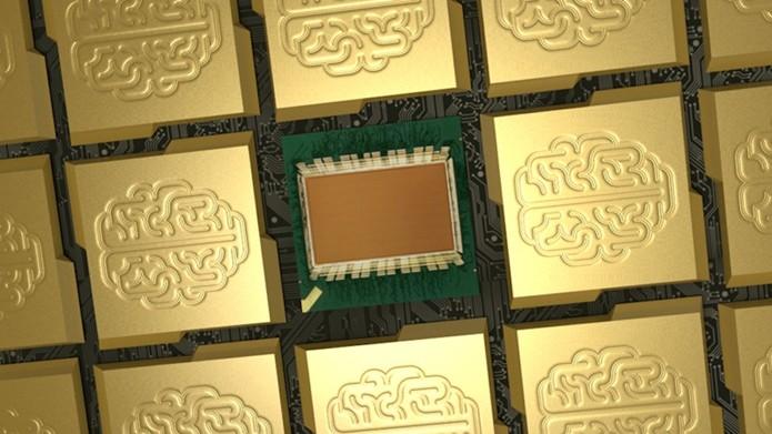 IBM cria chip com um milhão de neurônios inspirado no cérebro humano (Foto: Divulgação/IBM)